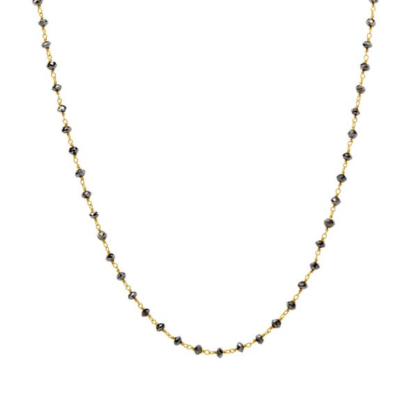 , Black Diamond Bead Necklace
