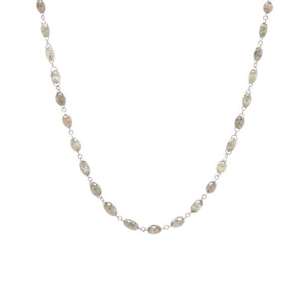 , Diamond Briolette Necklace