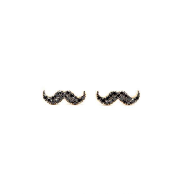 , Mustache Earrings