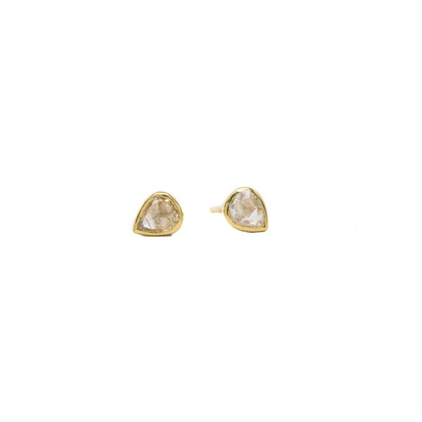 , Rose Cut Pear Studs