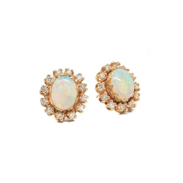 , Opal Diamond Studs