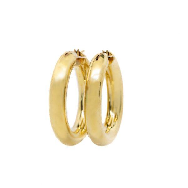 , Ebony Hoop Earrings