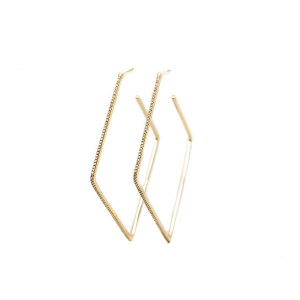 , Square Diamond Hoops