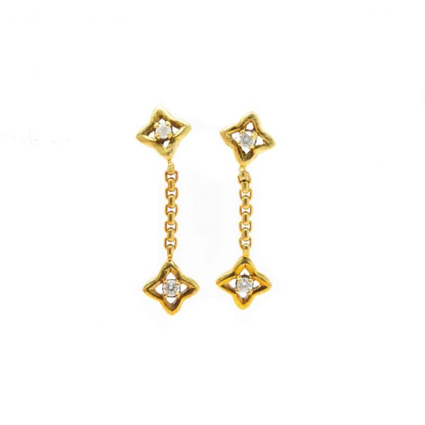 , Yurman Quarter Diamond Earring