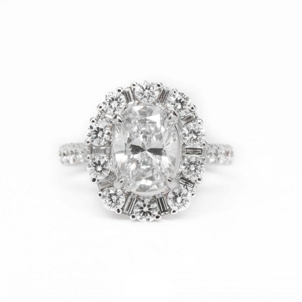 , 1.93 CT Oval Diamond Ring