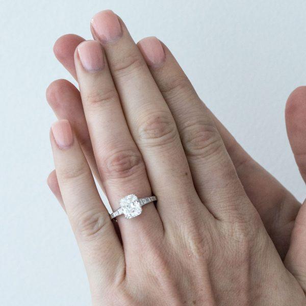 , 2 CT Diamond Engagement Ring