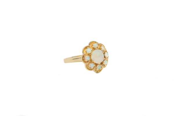, Vintage Opal Flower Ring