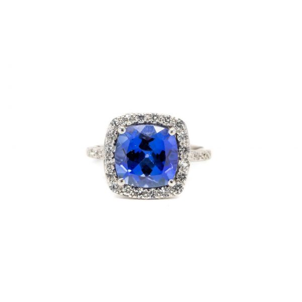 , Fashion Ring Synthetic Blue Stone
