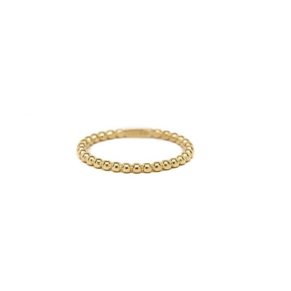 , Yellow Gold Bead Ring