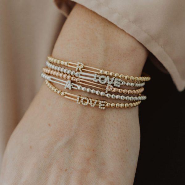 , Initial Stretch Bracelet