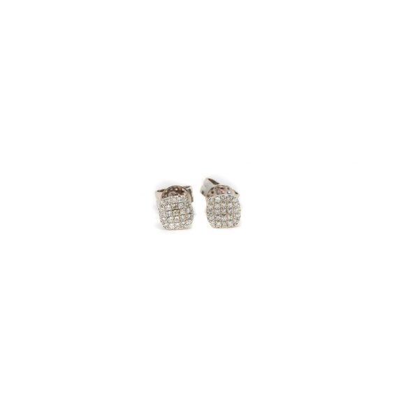 , Diamond Pave Cushion Earrings