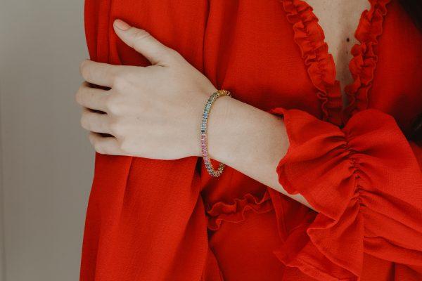 , Rainbow Sapphire Bracelet