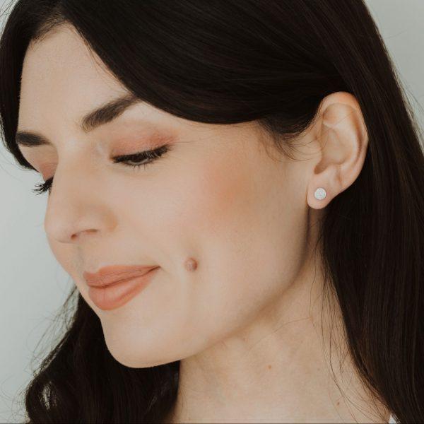 , Diamond Pave Disc Earrings