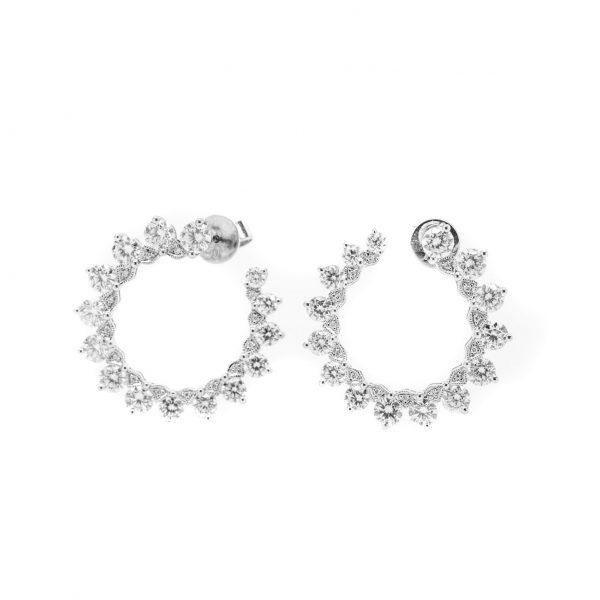 , 3.07 CT Diamond Earrings