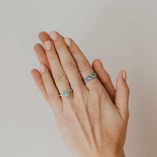 , White Gold Tourmaline Ring