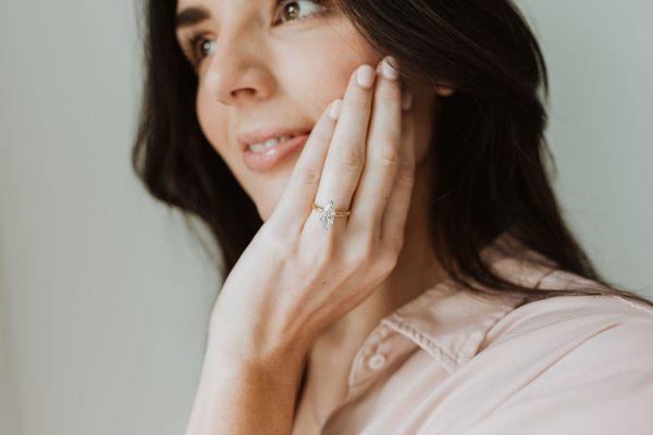 , 1.51 CT Marquise Diamond Engagement Ring