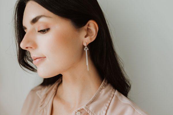 , Two Bar Drop Earrings