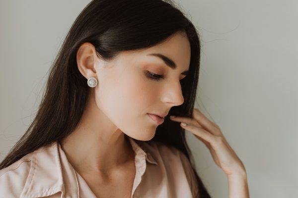 , Diamond Disc Earrings