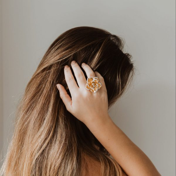 , Yellow Gold Flower Ring