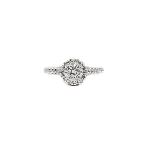 , Halo 0.85 CT Engagement Ring