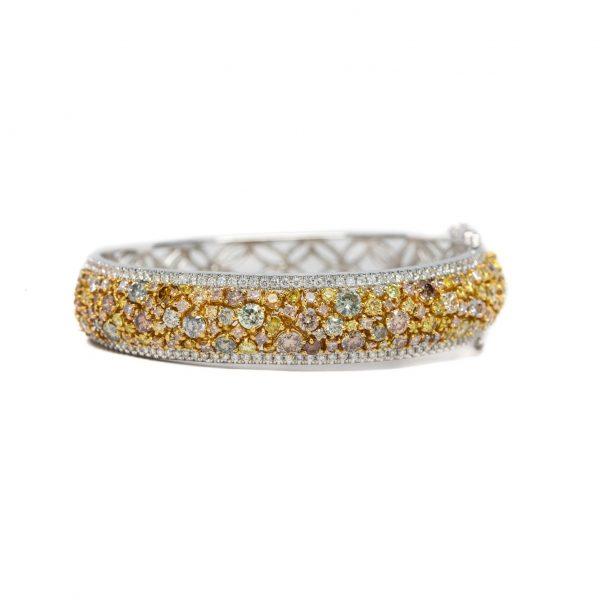 , Fancy Orange + Yellow Diamond Bracelet