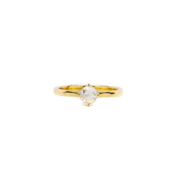 , Doves Rose Cut Diamond Ring