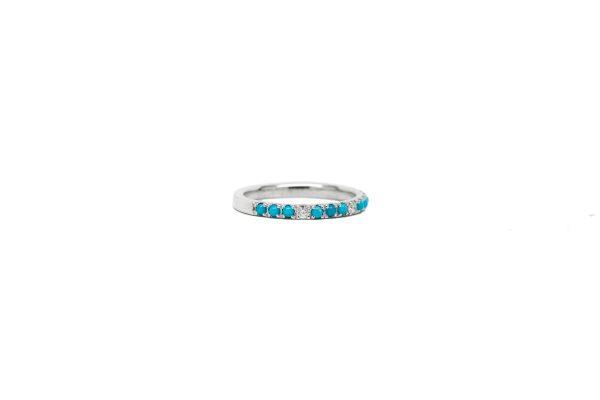 , Turquoise + Diamond Band