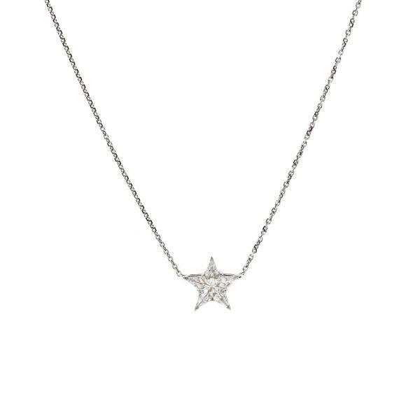 , Star Shaped Diamond Necklace