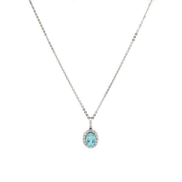 , Custom Paraiba Tourmaline Necklace