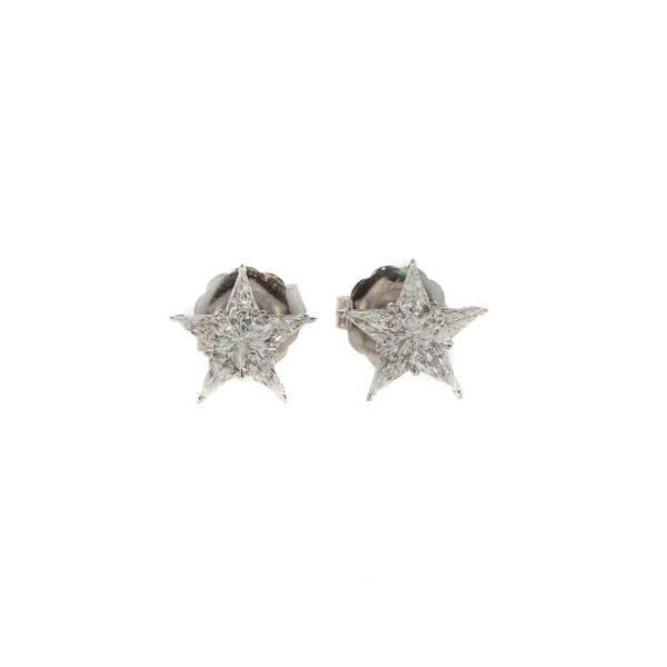 , 1.12 CT Diamond Star Studs