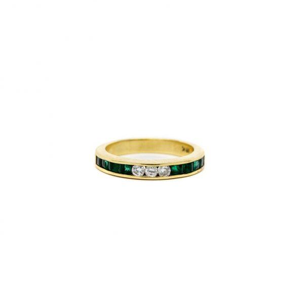 , Diamond + Emerald Band