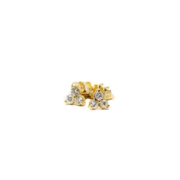 , Triangle Diamond Studs