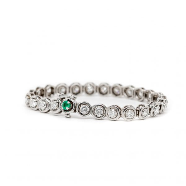 , Diamond Emerald Bracelet