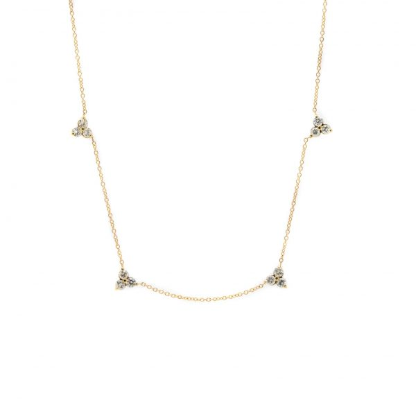 , Diamond Triangle Necklace