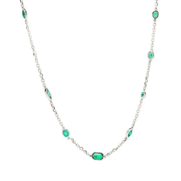 , Emerald Station Necklace