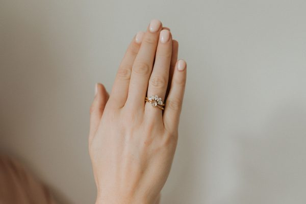 , Pear Shape Diamond Ring Guard