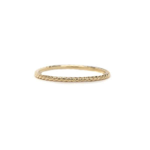, Yellow Gold Rope Band