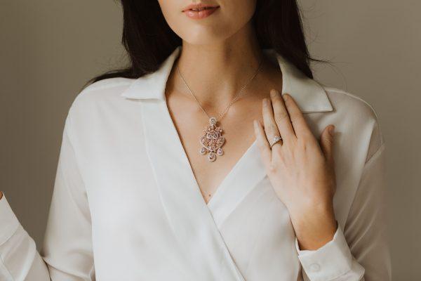 , Morganite Pendant Necklace