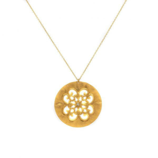 , H. Weiss Filigree Pendant Necklace