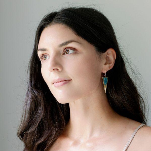 , Doves Geo Drop Earrings