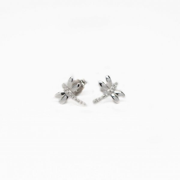 , Dragonfly Diamond Studs