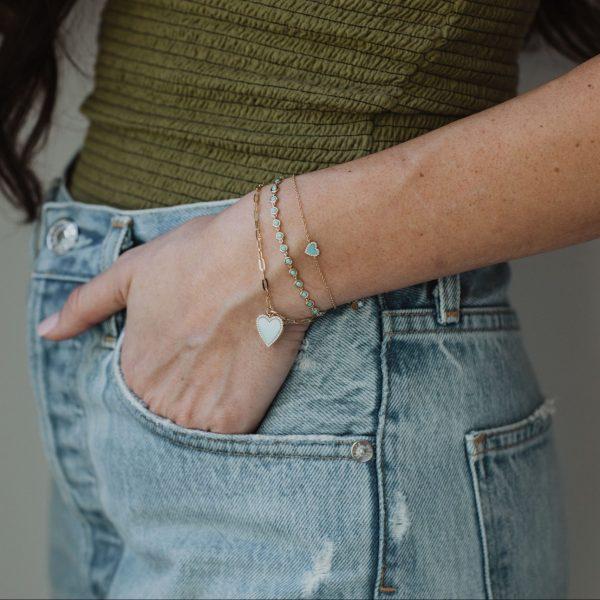 , Turquoise Heart Bracelet